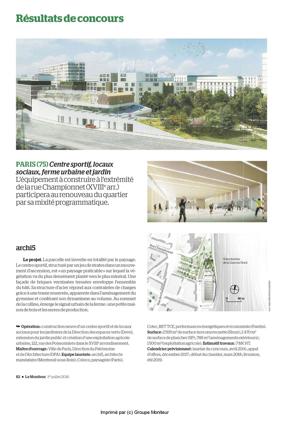 Le moniteur poissonniers sports centre paris archi5 for Exemple contrat entretien espaces verts